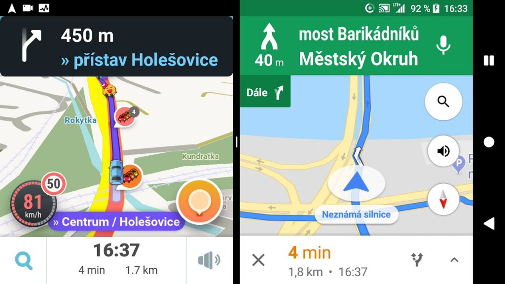 ban do waze va google maps