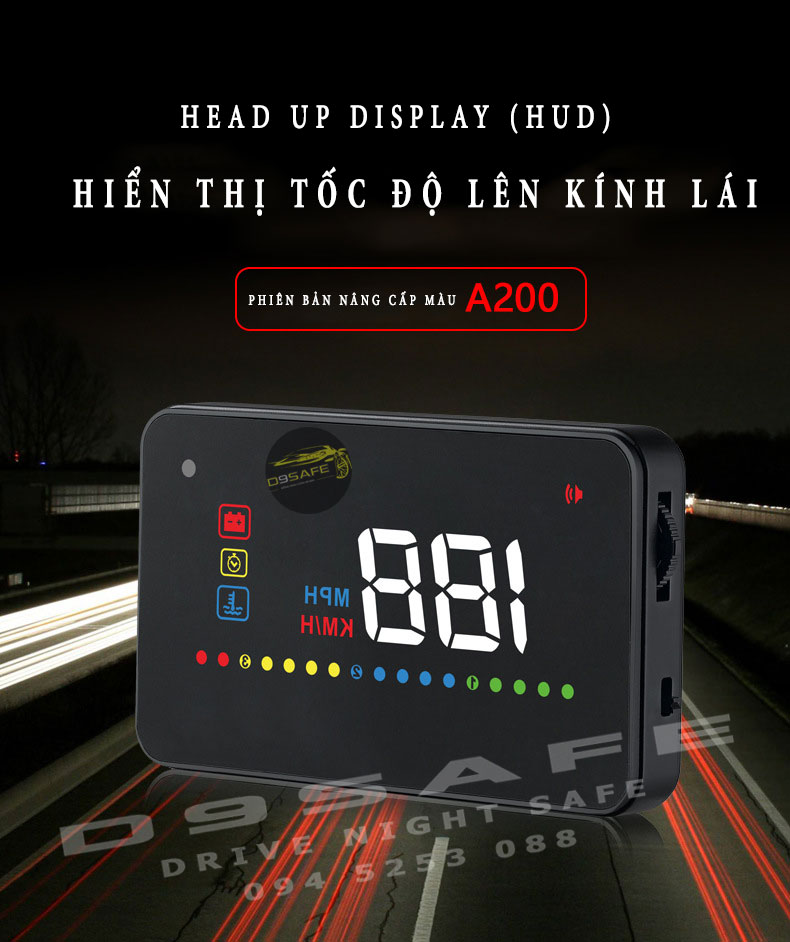 hud a200 hien thi toc do kinh lai